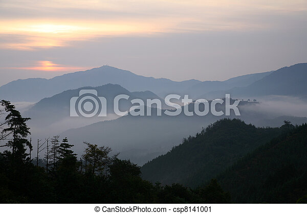 Layered mountain
