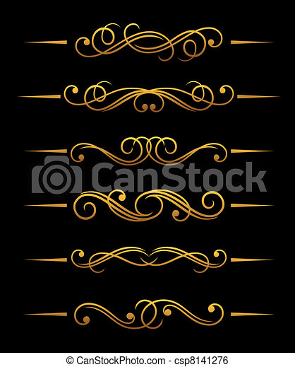 Golden vintage dividers - csp8141276
