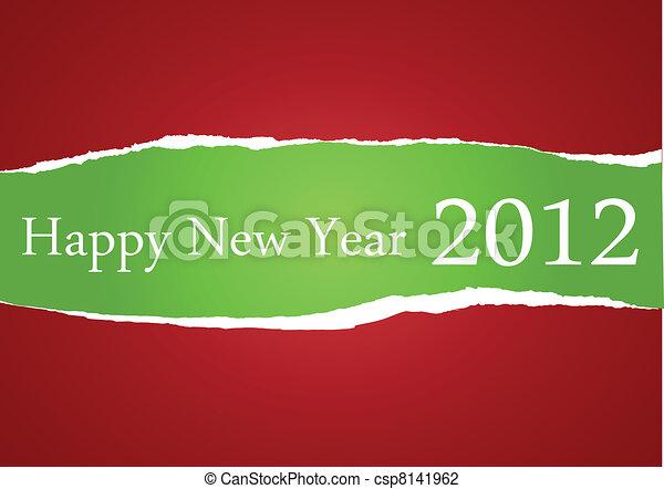 Happy New Year 2012  - csp8141962