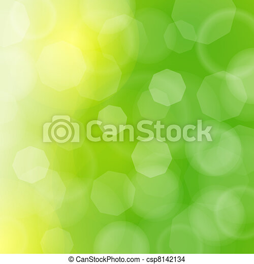 Blurred green sparkles and bokeh - csp8142134