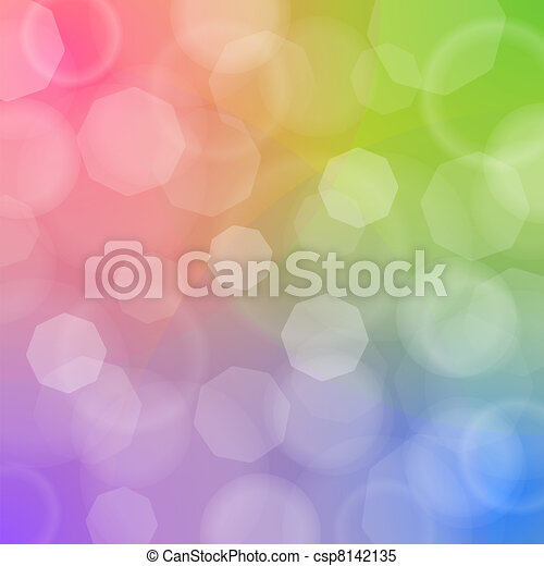 Blured bokeh on colorful background - csp8142135