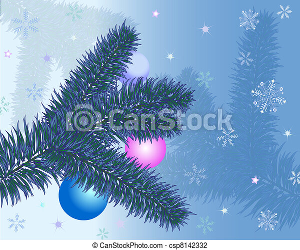 Christmas greeting card with christ - csp8142332