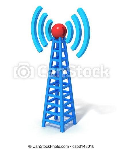 sem fios, comunicação, torre - csp8143018