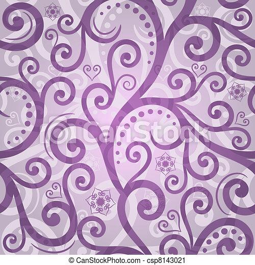 Seamless violet valentine pattern - csp8143021
