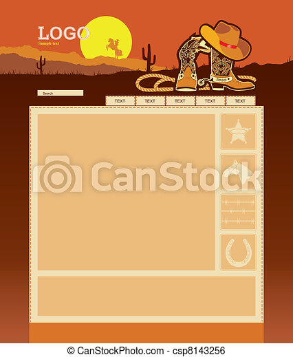Cowboy website template - csp8143256