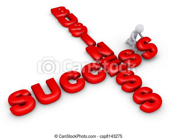 Completing business crossword - csp8143275