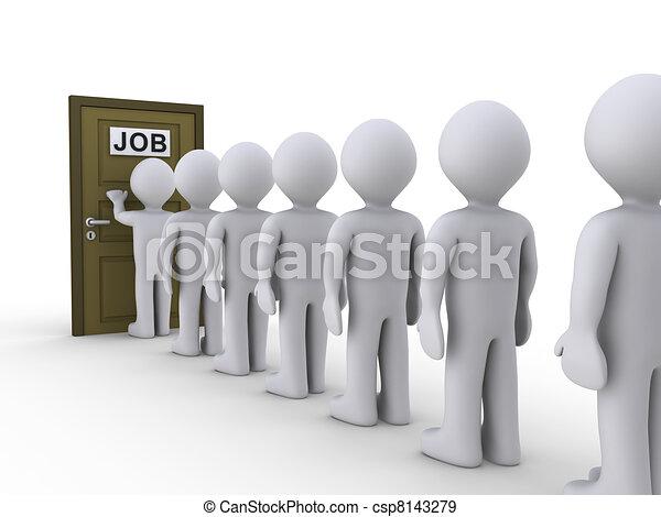 Knocking on door for job - csp8143279