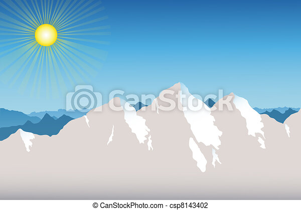 Mountain Range Background - csp8143402
