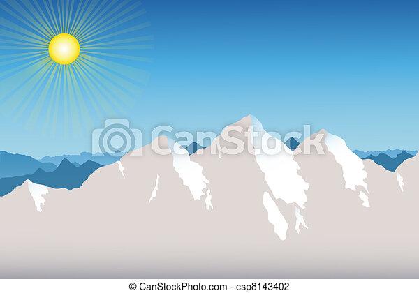 Mountain Range Background - csp8143402