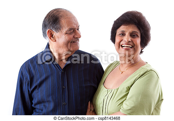 East Indian Elderly Woman with her husband - csp8143468