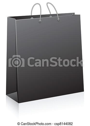 Black shopping bag. - csp8144082