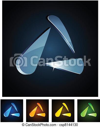 3d vibrant triangle. - csp8144130