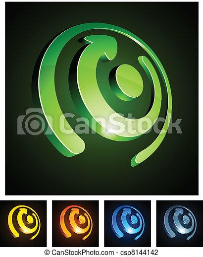 3d rotate emblems. - csp8144142