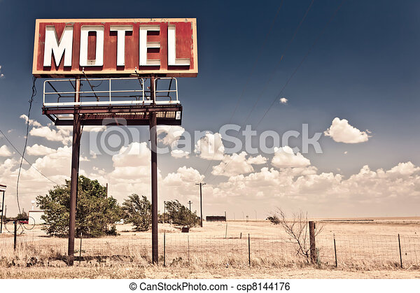 Old motel sign - csp8144176