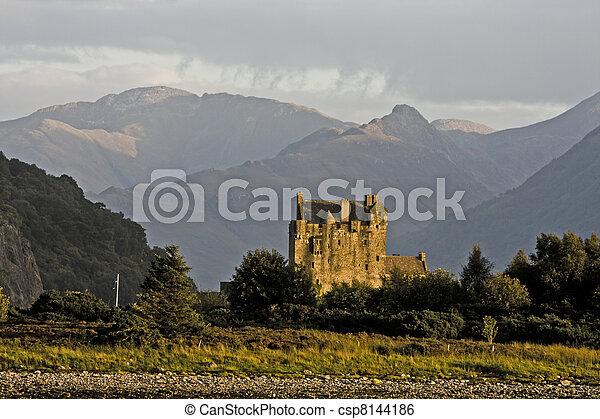 ancient castle in scotland - csp8144186