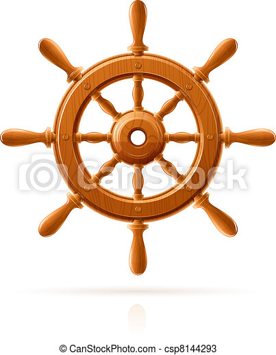 ship wheel marine wooden vintage - csp8144293