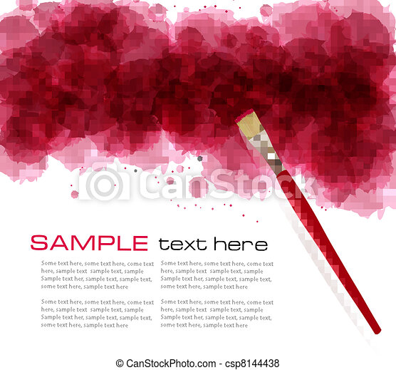 Abstract watercolor background.  - csp8144438