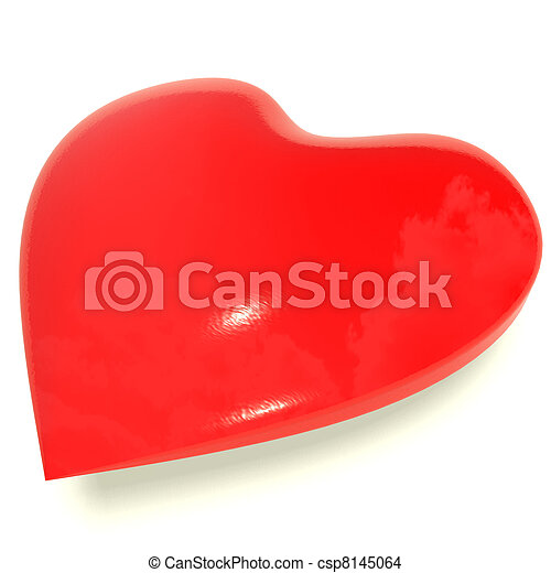 Red Heart Representing Love And Romance - csp8145064