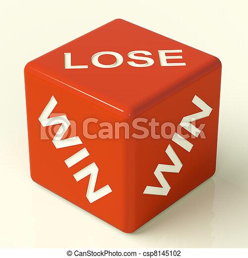 Lose Dice Represent Gambling And Losing - csp8145102
