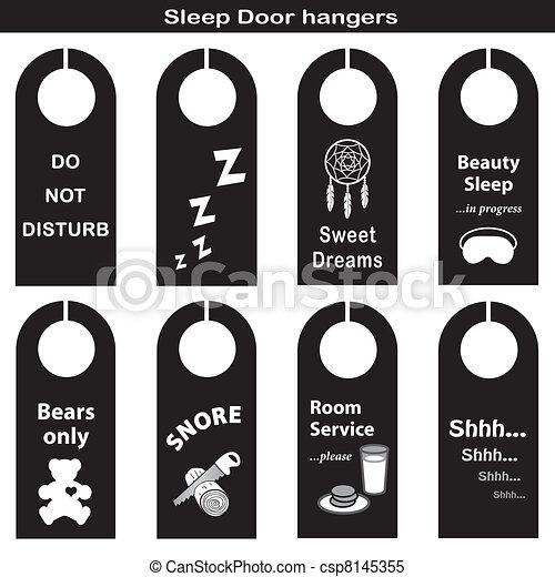 Door Hangers for Sleep Time - csp8145355