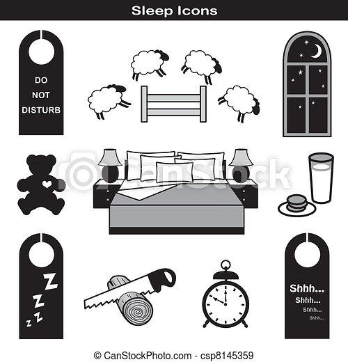 Sleep Icons - csp8145359