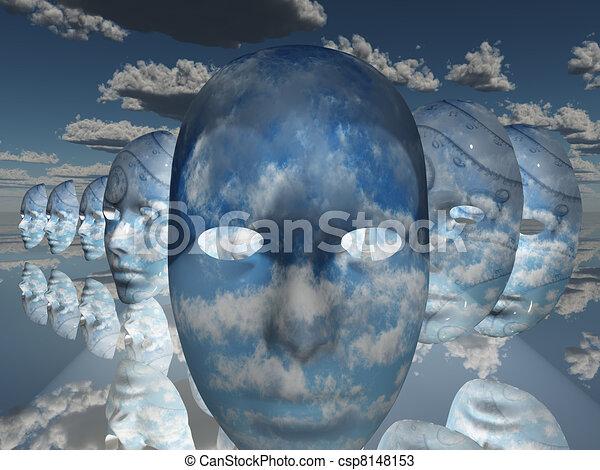 Surreal Face - csp8148153