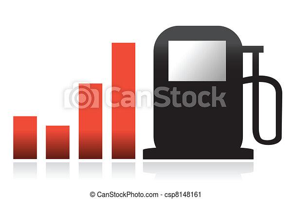 gas bar illustration graph design - csp8148161