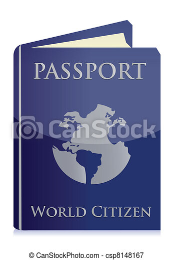 Passport on white background - csp8148167