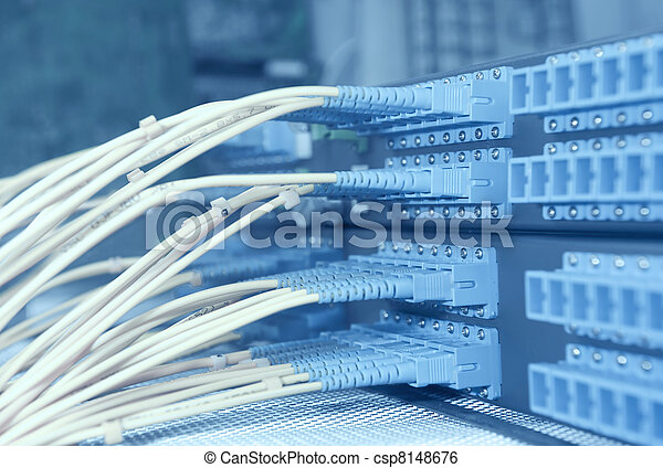 kugel, vernetzung, technologie, kabel, server, daten zentrieren - csp8148676