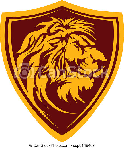 Lion Head Graphic Mascot Illustrati - csp8149407