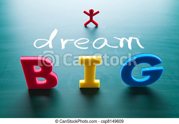 I dream big concept - csp8149609