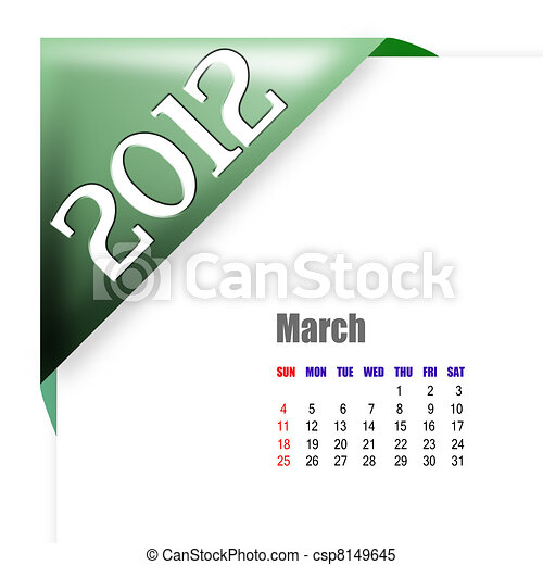 March of 2012 calendar  - csp8149645