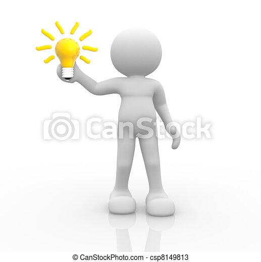 Light bulb - csp8149813