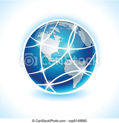 Communication Earth - America. - csp8149890