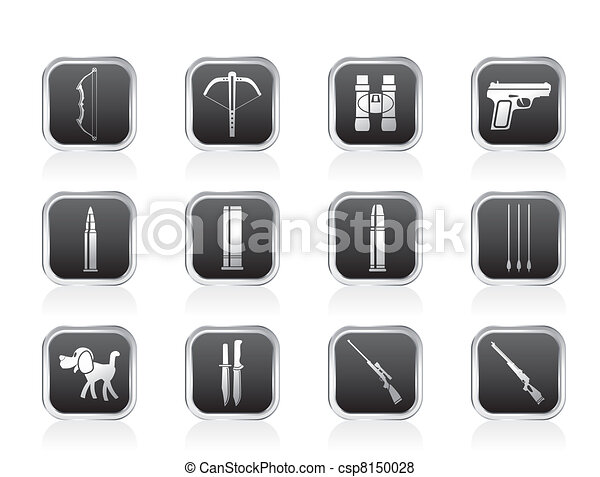 Hunting and arms Icons  - csp8150028