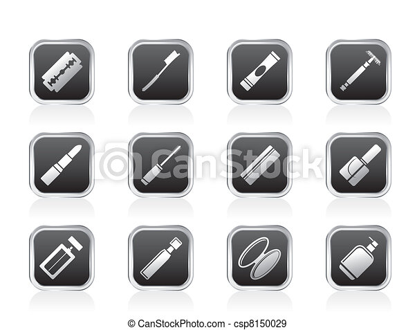 Make-up icon set, Health and beauty - csp8150029