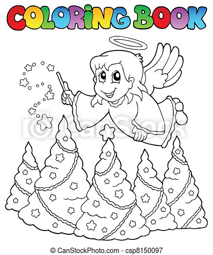 Coloring book angel theme image 2 - csp8150097