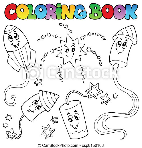 Coloring book fireworks theme 2 - csp8150108