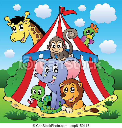 Circus theme picture 1 - csp8150118