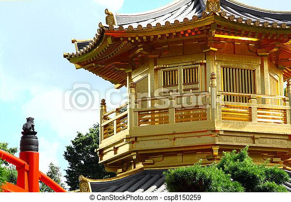 Pavilion of Absolute Perfection in the Nan Lian Garden, Hong Kong.  - csp8150259