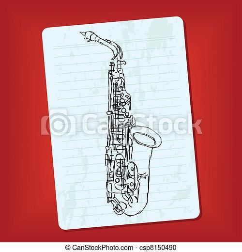 doodle saxophone - csp8150490