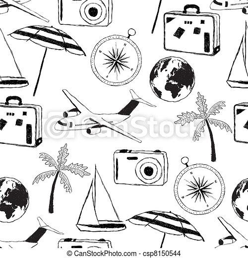 doodle travel pattern - csp8150544