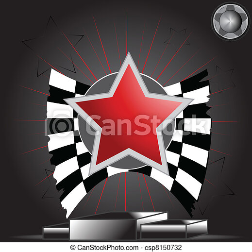 Victory Star on podium - csp8150732