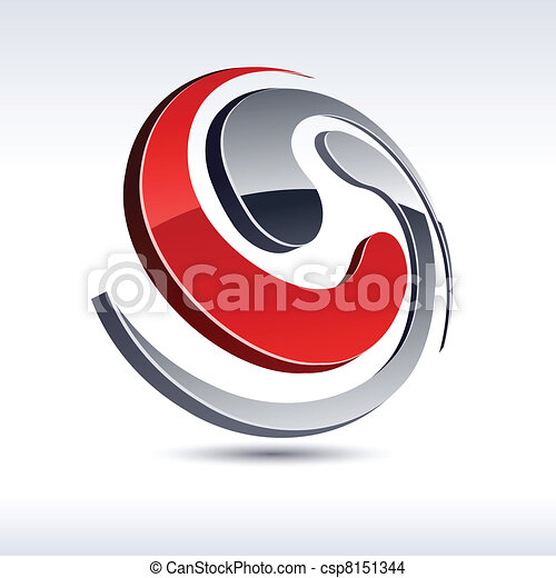 Abstract 3d spiral icon. - csp8151344