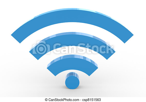 3D wifi sign. High signal. - csp8151563