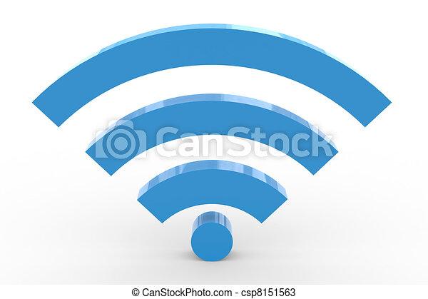 3D wifi sign. High signal. - csp8151563