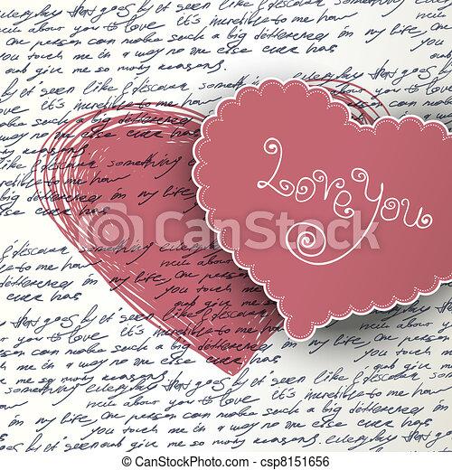 Valentines day background. - csp8151656