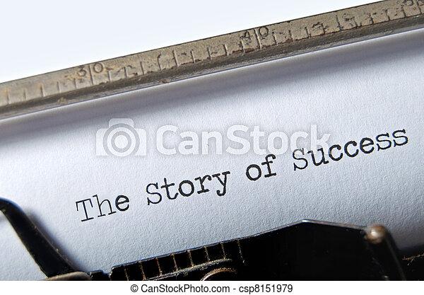 Story of Success - csp8151979