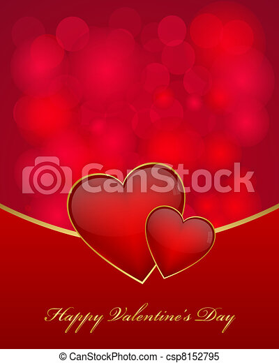 Valentine's day card - csp8152795