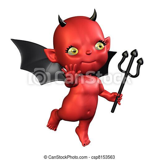 Dessins de petit diable little devil 3d render de - Coloriage petit diable ...